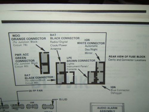 small resolution of fuse box diagram for 1988 camaro iroc z third generation f body rh thirdgen org 1990 1986
