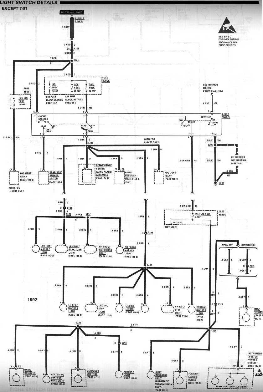 medium resolution of 1990 chevy headlight switch wiring diagram