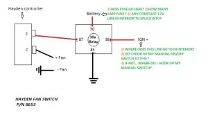 Wiring electric fan with HAYDEN sensor  Third Generation