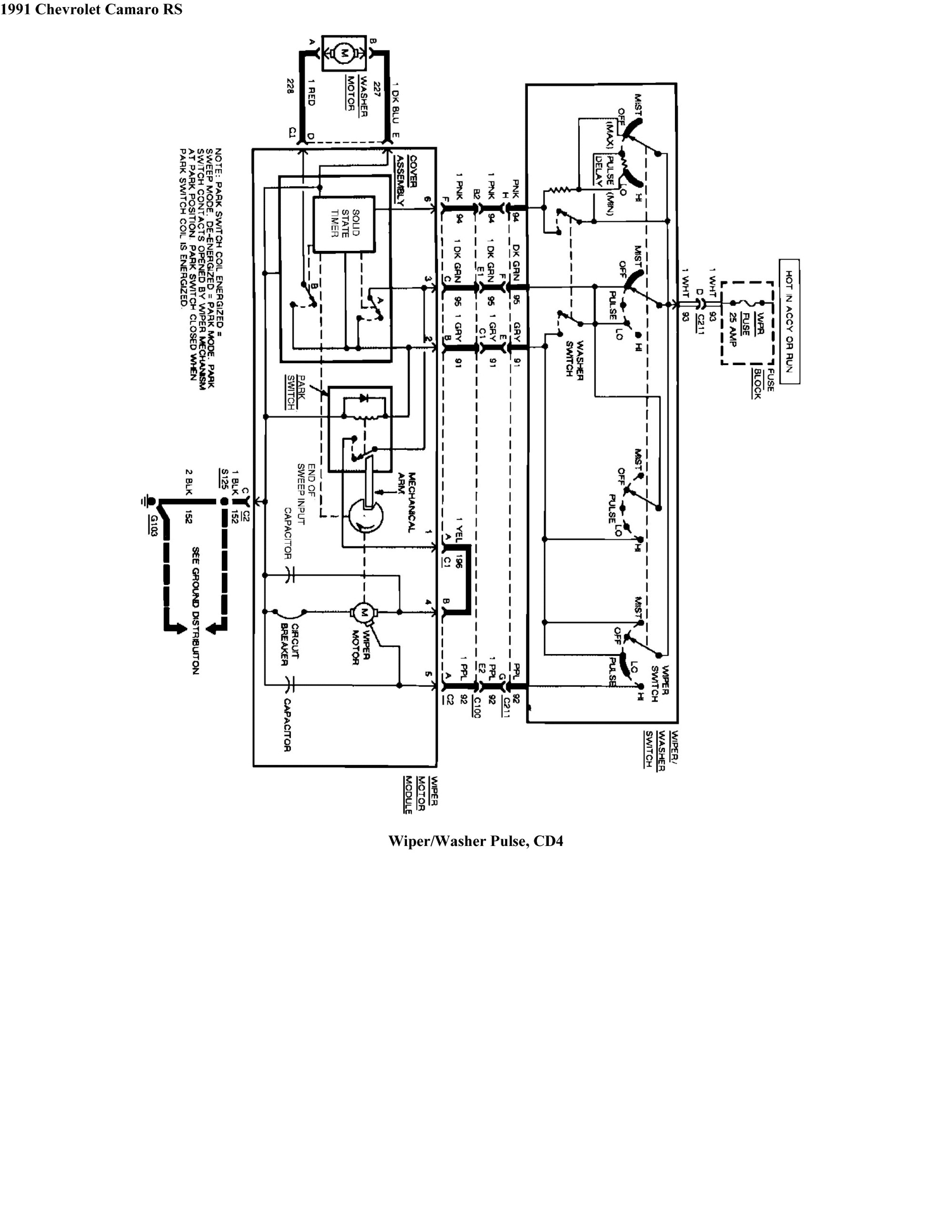 hight resolution of gmc wiper motor wiring diagram wiring diagram for you1986 firebird wiper wiring schematic wiring diagram operations