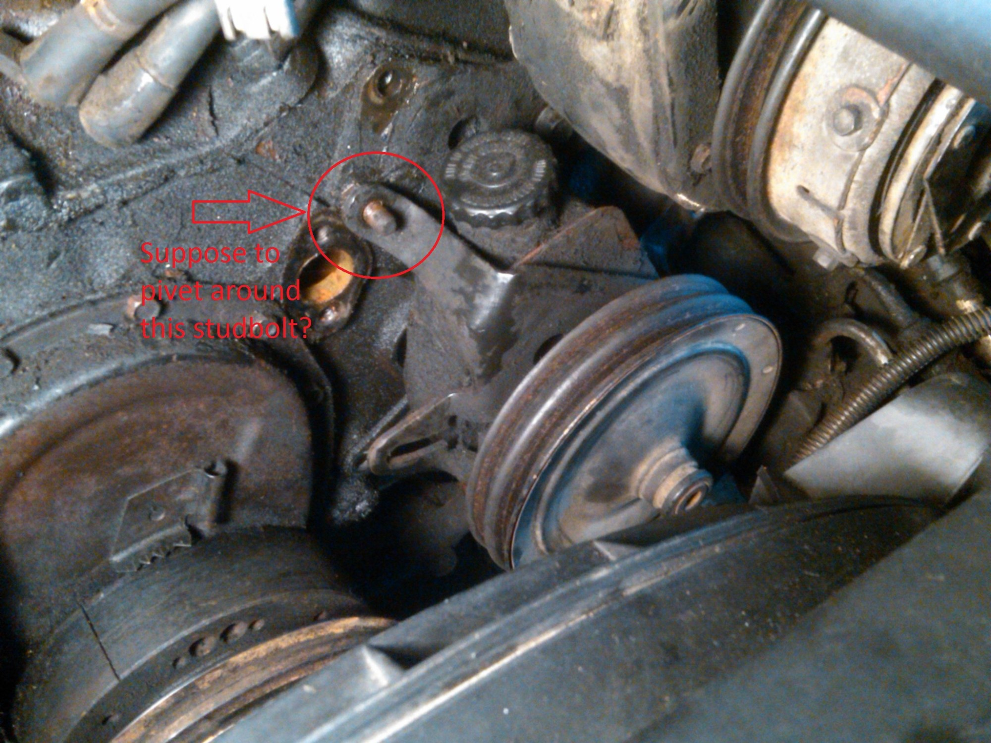 hight resolution of power steering pump bracket help ps pump studbolt jpg
