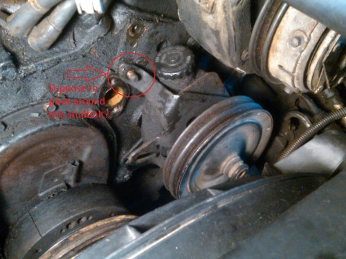 small resolution of power steering pump bracket help ps pump studbolt jpg
