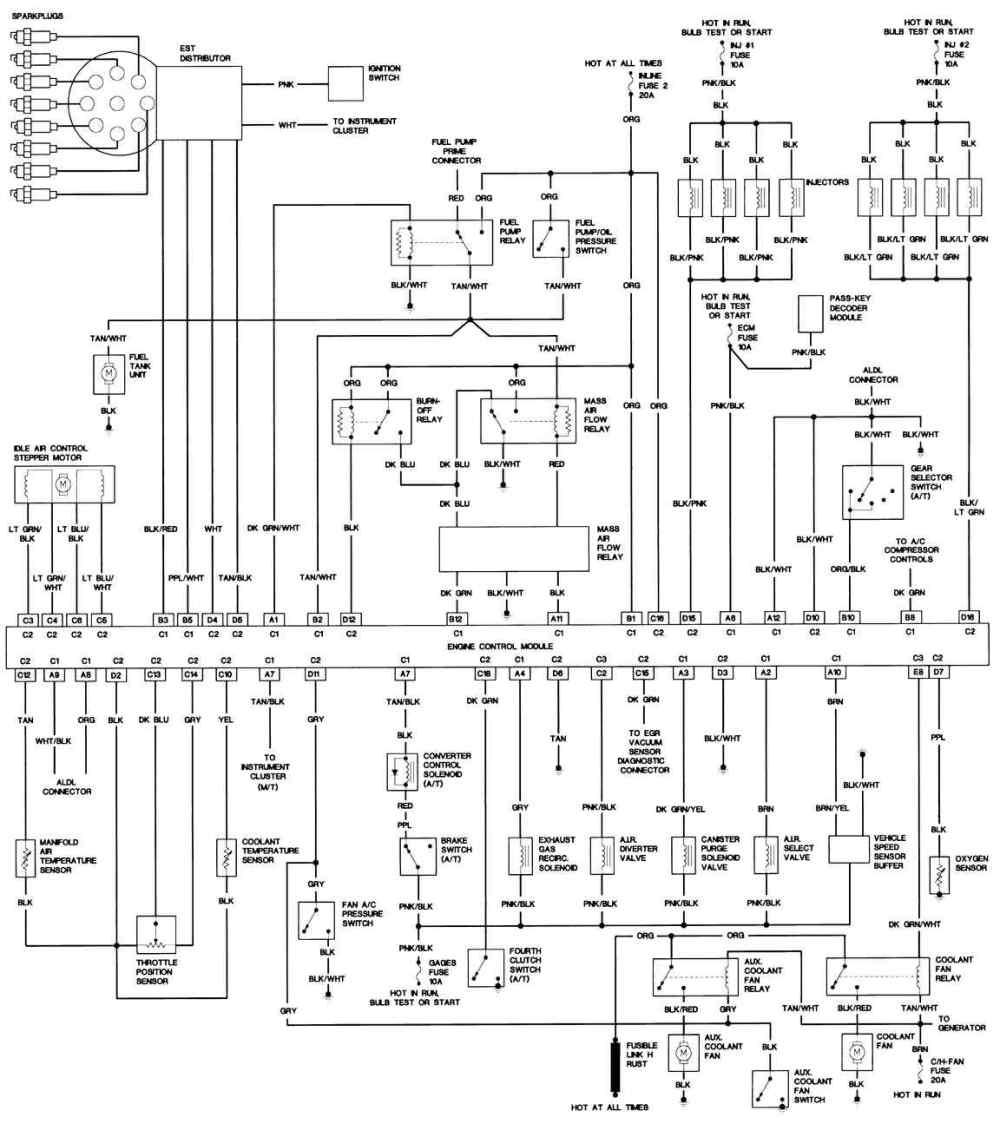 medium resolution of 1991 firebird formula wiring diagram example electrical wiring rh huntervalleyhotels co 1992 pontiac firebird wiring diagram