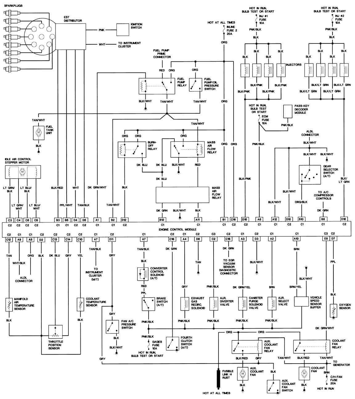 hight resolution of 1991 firebird formula wiring diagram example electrical wiring rh huntervalleyhotels co 1992 pontiac firebird wiring diagram