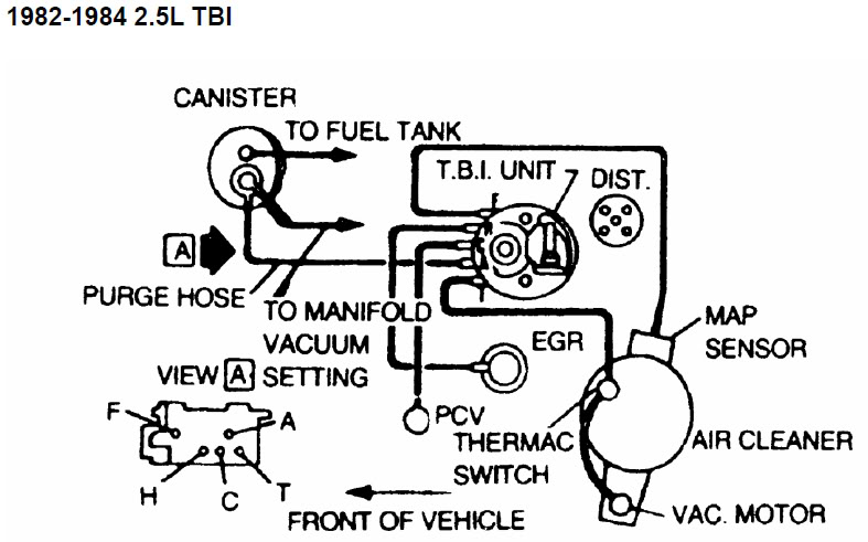 engine diagram 1992 chevy camaro 305