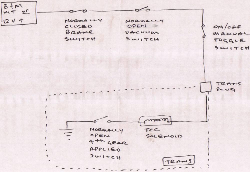 medium resolution of b amp m lockup w vacuum and brake switch