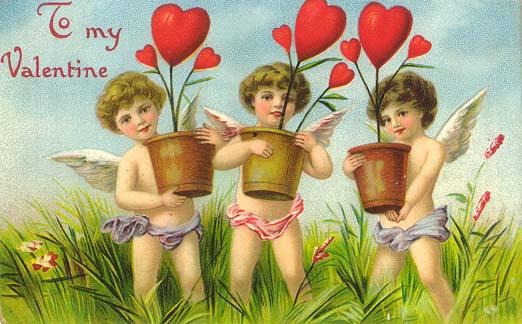 Valentine Greetings With Vintage Valentine S Day Postcards Free