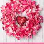 Making A Valentine S Day Rag Wreath With Fabric Scraps Third Stop On The Right