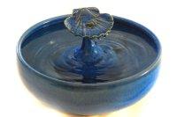 Ceramic Cat fountain in a shell design glazed in our ...