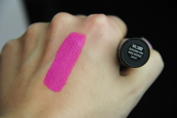 nyx matte lipstick in shocking pink