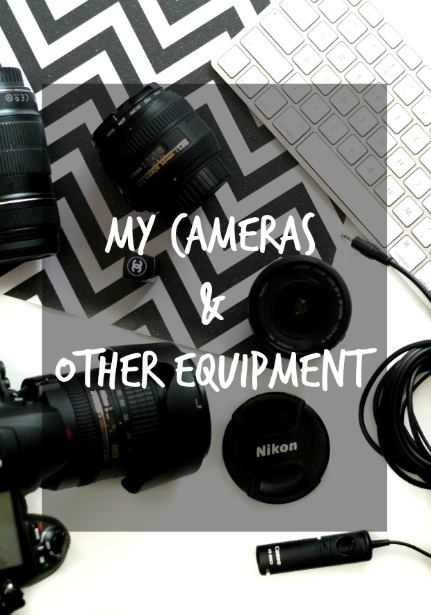 equipment and cameras for a blog