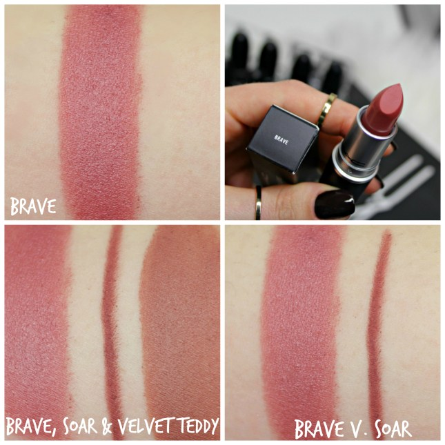 MAC brave vs. velvet teddy