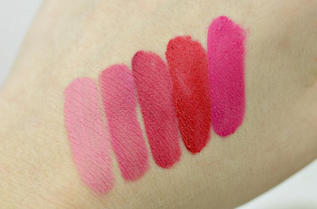NYX Soft Matte Lip Creams swatches