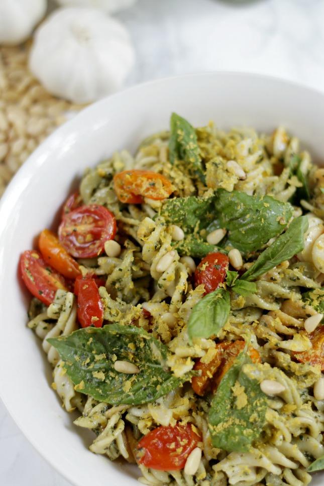 Vegan rice pasta