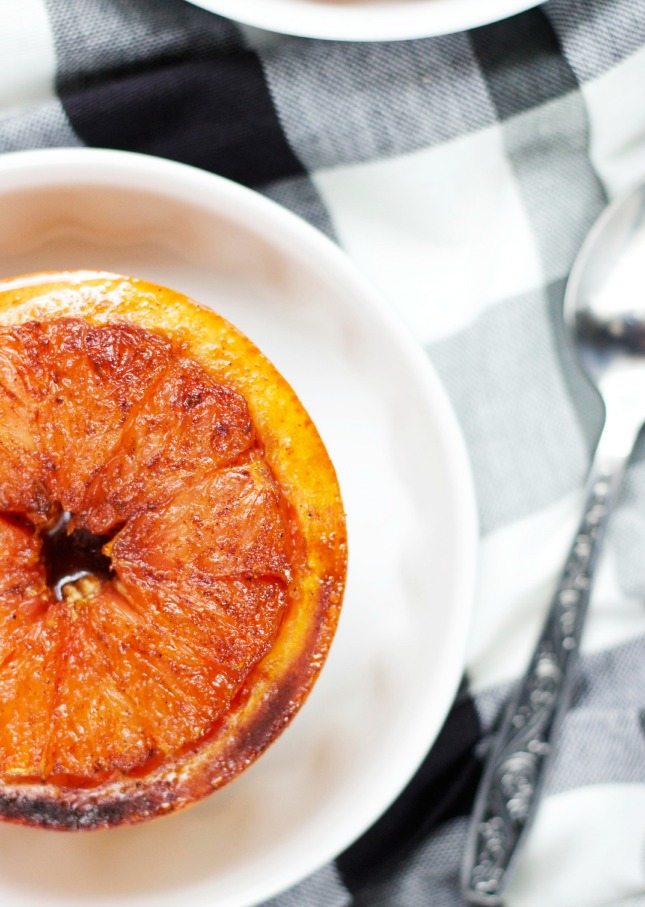broiled grapefruit with sugar