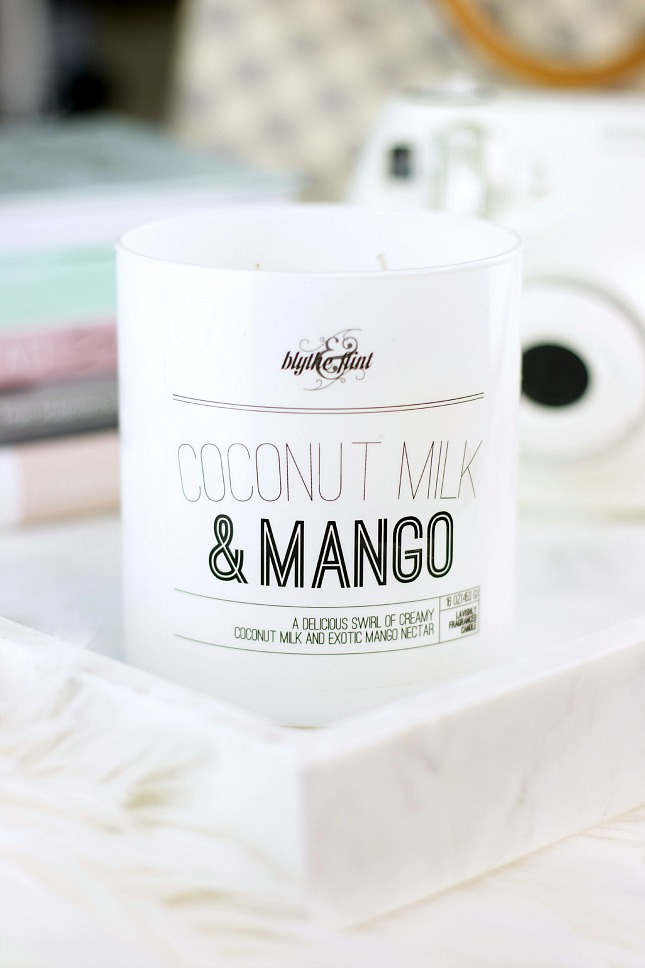 coconut milk and mango candle