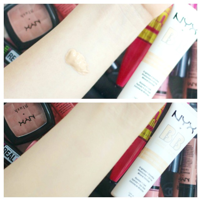 NYX BB cream review and swatch