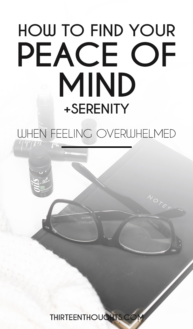 find peace of mind and serenity