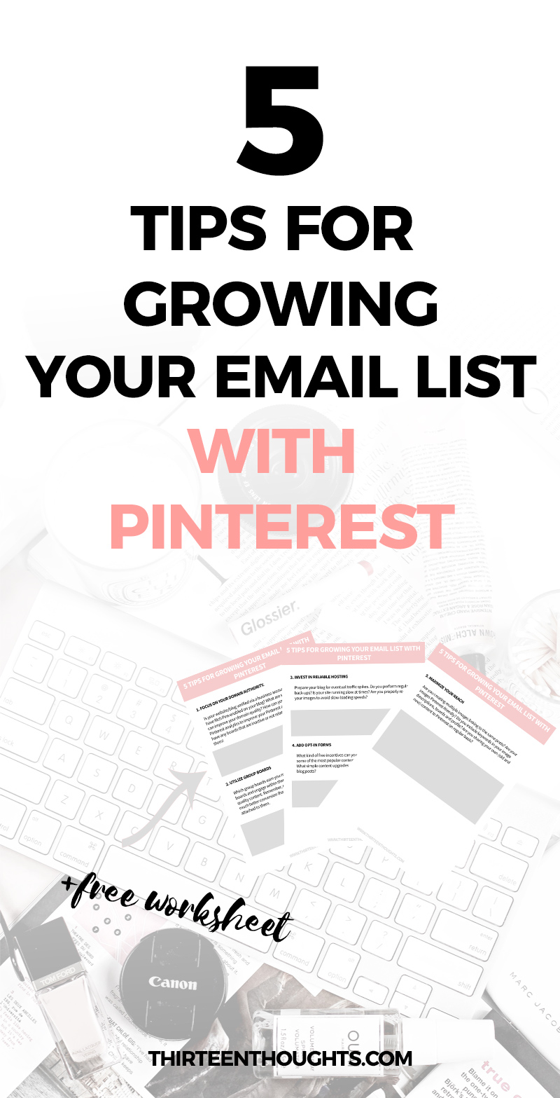 Growing your email list with Pinterest. #pinterestmarketing #blogging #onlinebiz #marketing