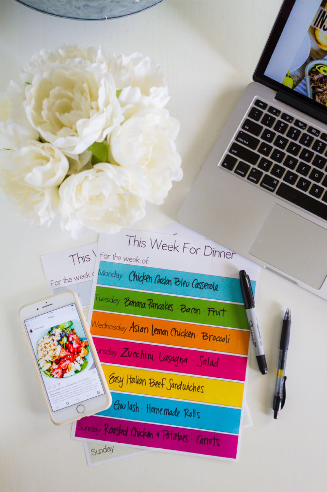Printable Meal Planning Template