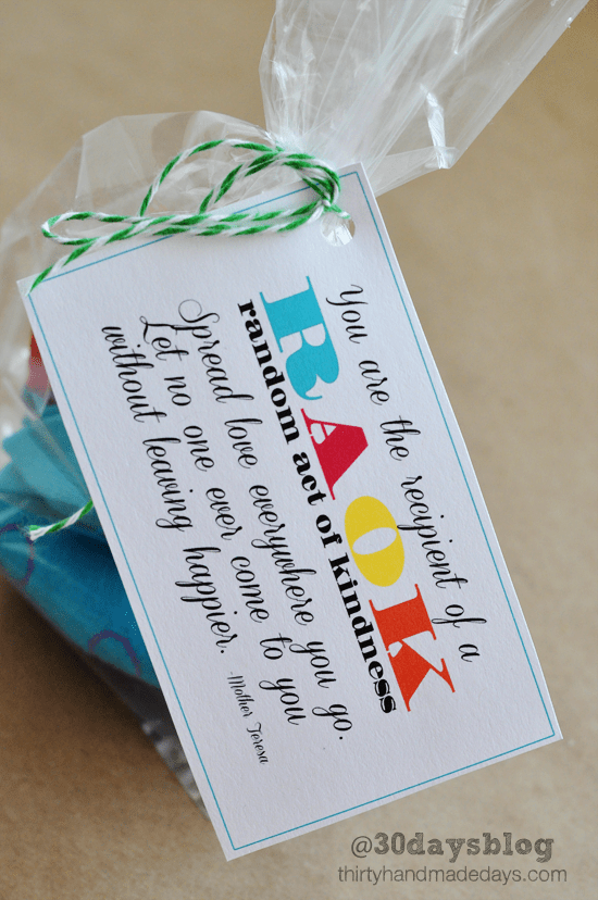 Printable Tags For Blessing Bags