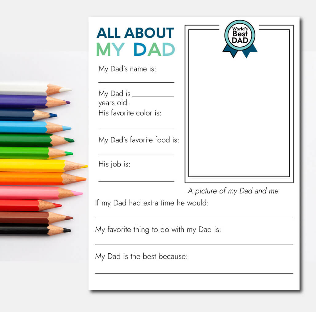 Father S Day Printable Fill In Sheet From Thirty Handmade Days