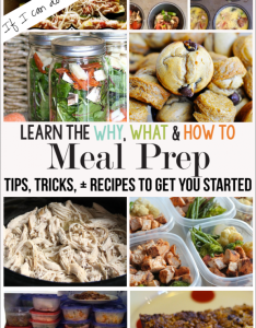 easy meal prep ideas also the why what and how to rh thirtyhandmadedays
