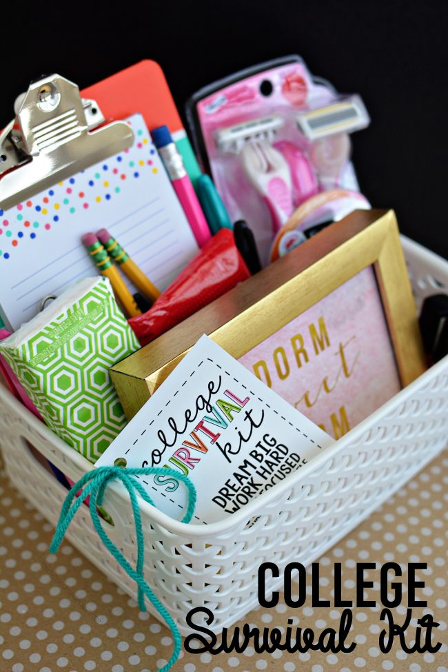 College Survival Kit With Printables