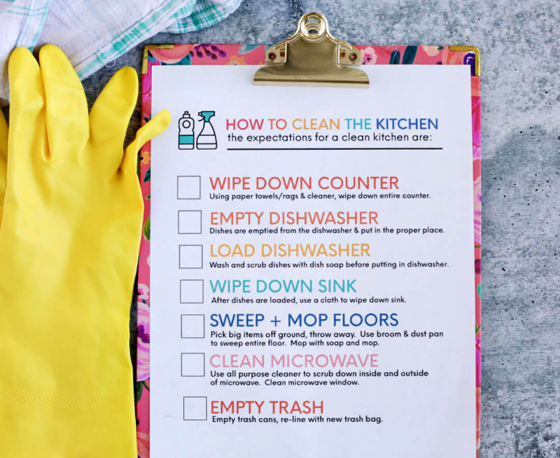 How To Clean The Kitchen