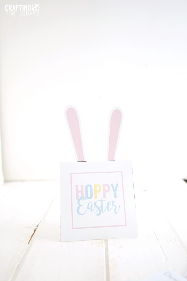 Printable Easter Bunny Note