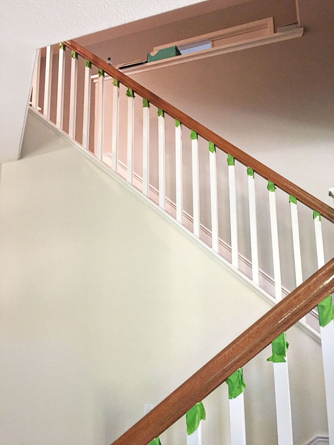 How To Paint Your Stair Railing And Banister Black From 30Daysblog   Wood Stairs And Railings   New   Stairway   Architectural Modern Wood Stair   Color   Basement