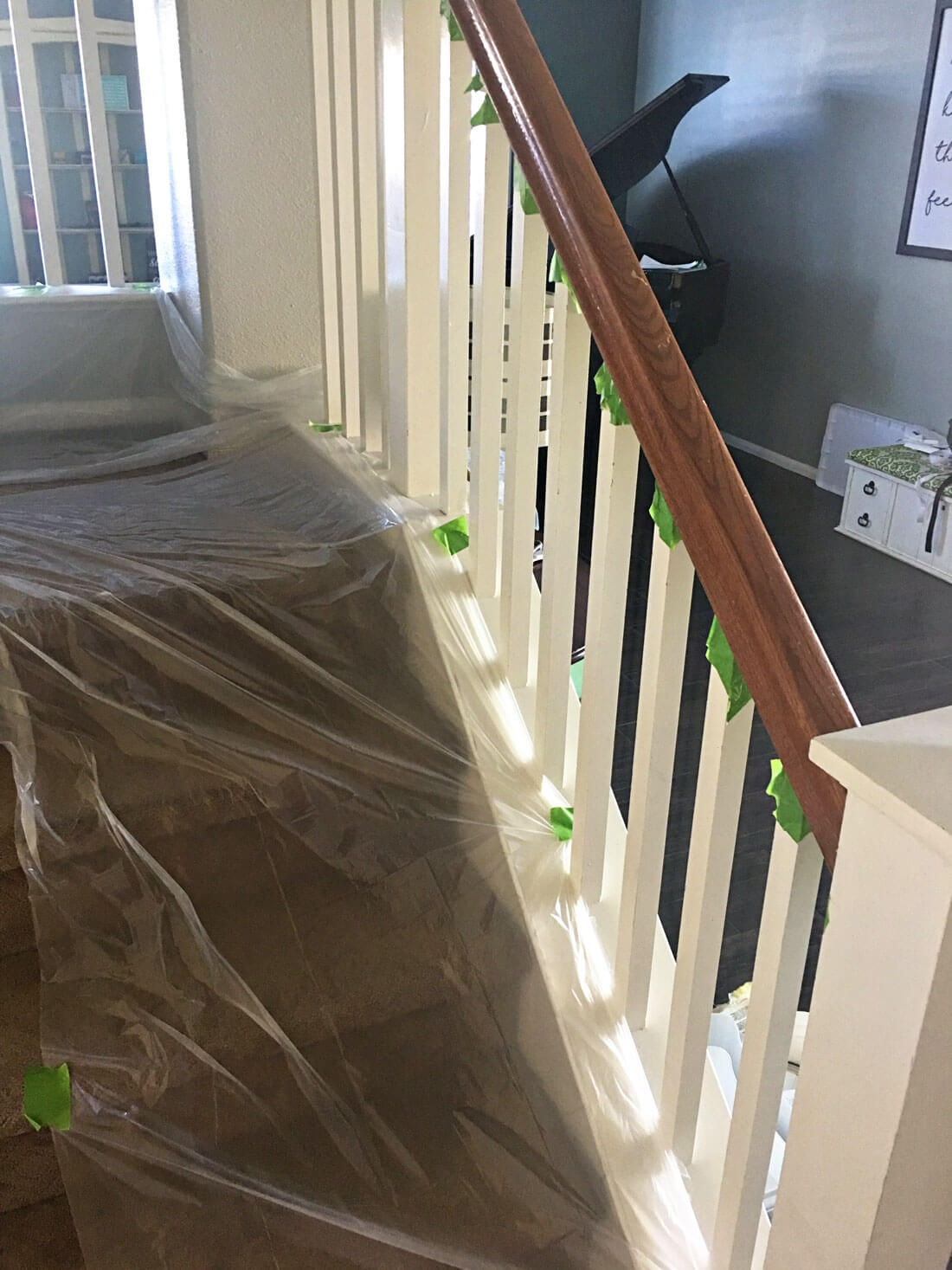 How To Paint Your Stair Railing And Banister Black From 30Daysblog | Indoor Stair Railings Home Depot | Metal | Interior | Deck Stair | Aluminum Railing | Iron Stair