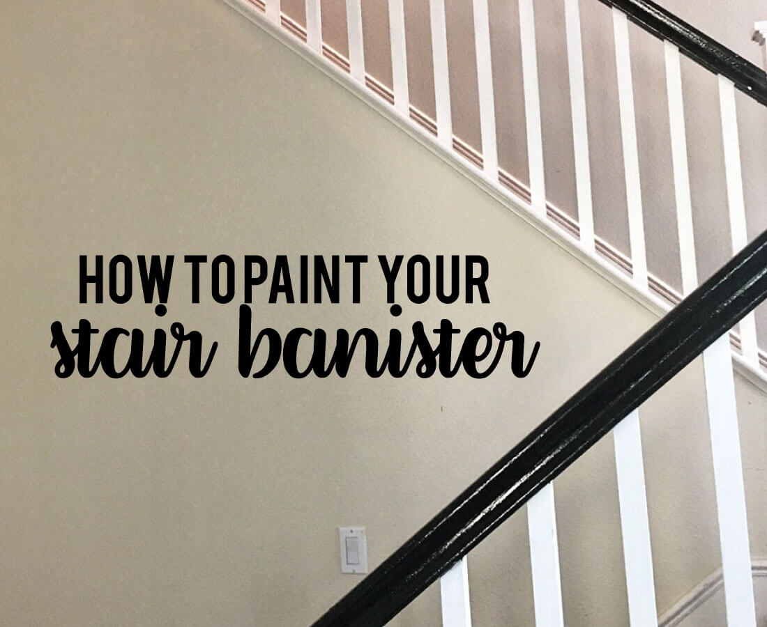 How To Paint Your Stair Railing And Banister Black From 30Daysblog | Black Horizontal Stair Railing | Room | Split Entry | Steel | Modern | Metal