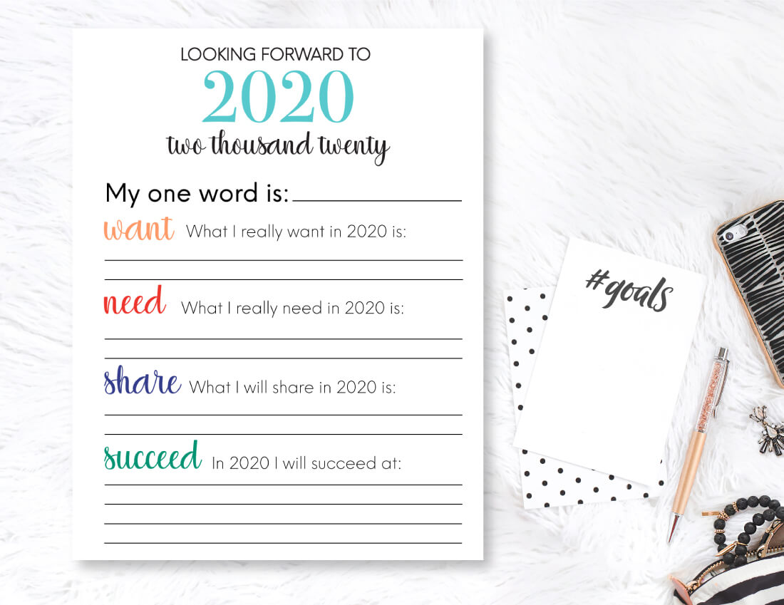 Printable New Year S Resolution List