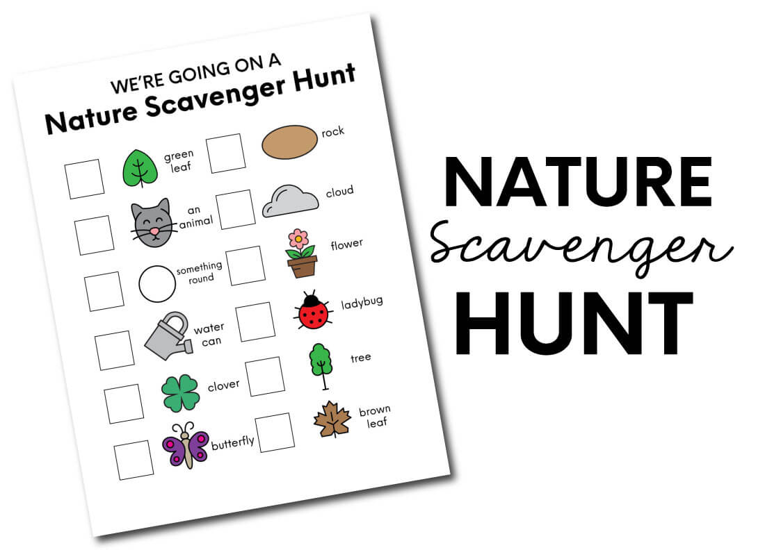 Printable Nature Scavenger Hunt from Thirty Handmade Days