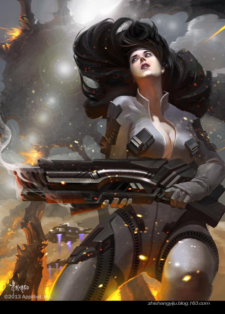 Cybernetic Girls Hd Wallpaper The Fantasy Art Of Bayard Wu Bayard Wu Digital Fantasy