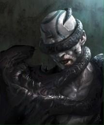 dark fantasy art of black malcerta