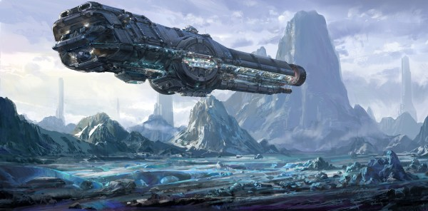 Sci-Fi Spaceship Concept Art