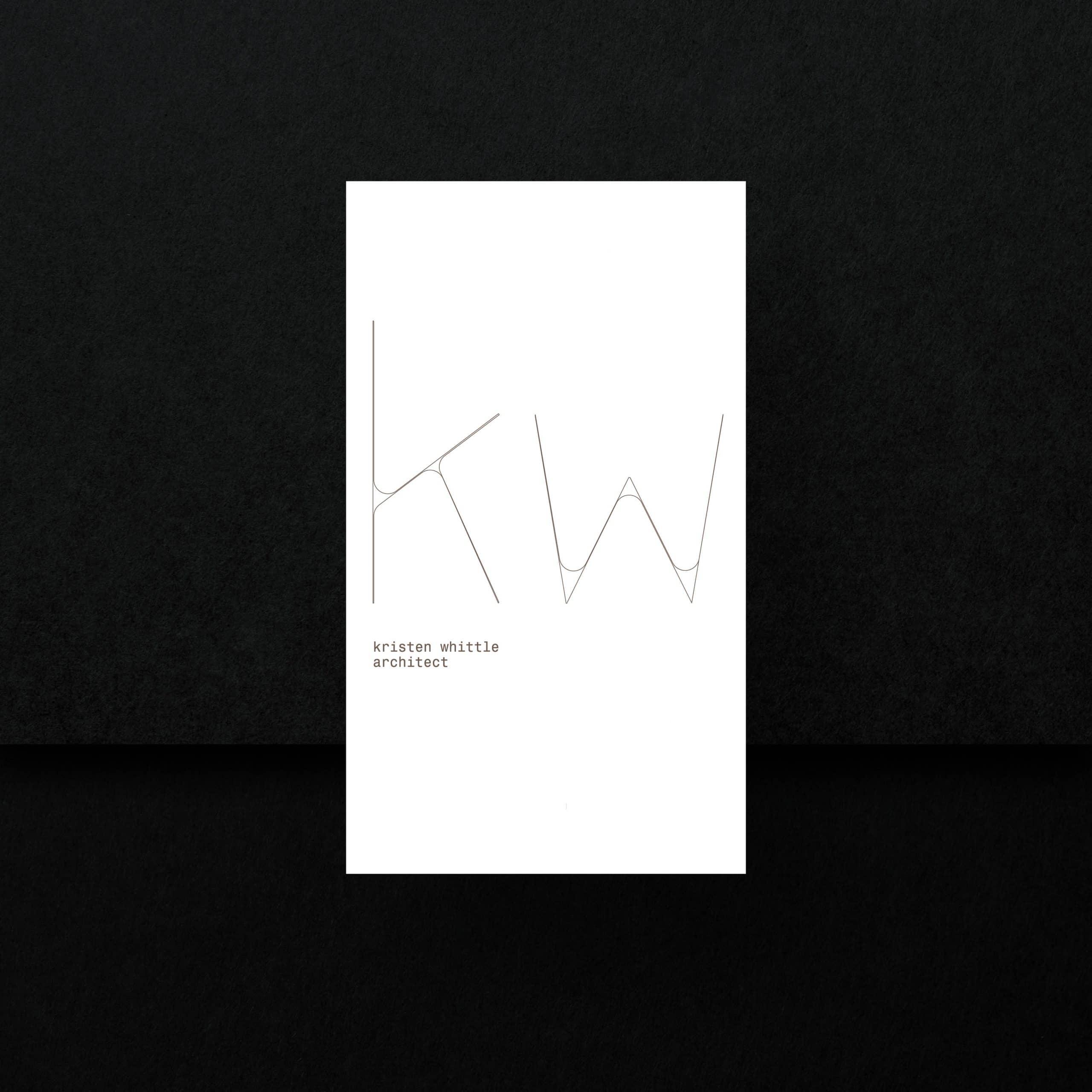 Kristen Whittle business card visual