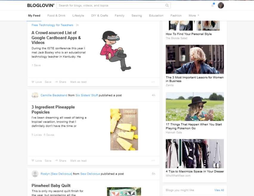 How to use bloglovin