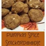 Pumpkin White Chocolate Snickerdoodles