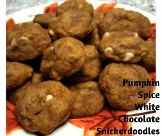 Pumpkin  White Chocolate Snickerdoodles