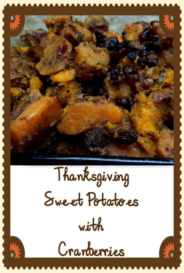 Thanksgiving Sweet Potatoes with Cranberries