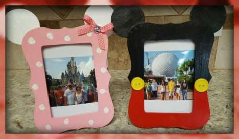 DIY Disney Photo Frame from www.thisautoimmunelife.com #Disney