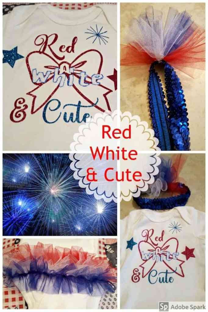 Red White & Cute Baby Outfit with free SVG and Cricut cut files from www.thisautoimmunelife.com