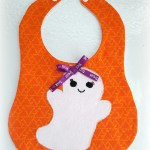 Halloween Ghost Baby Bib for September Monthly Craft Destash Challenge from www.thisautoimmunelife.com