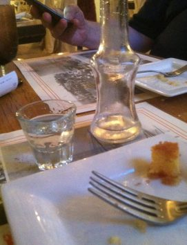 Raki and honey -- Greek lagniappe