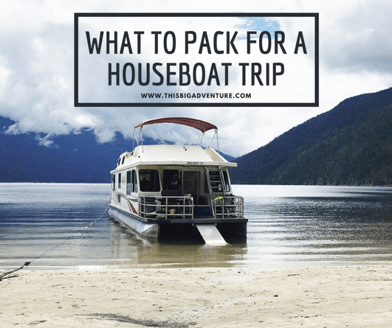 What to Pack for a Houseboat Trip