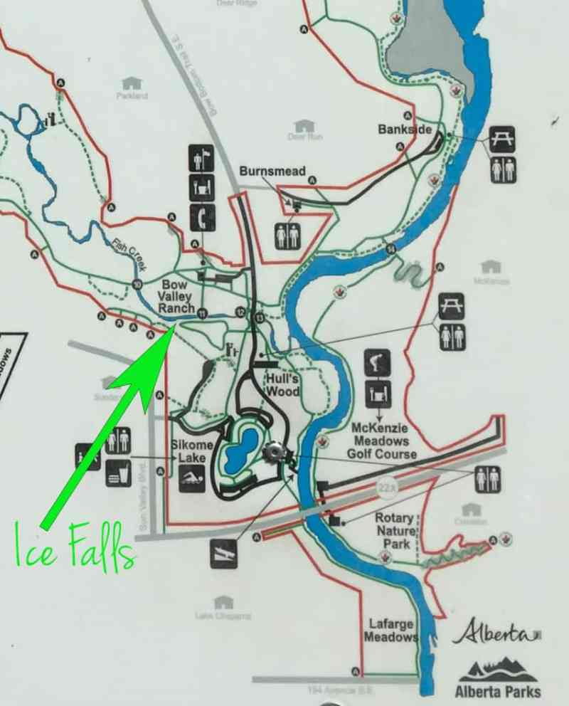 How to Get to the Ice Falls in Fish Creek Park