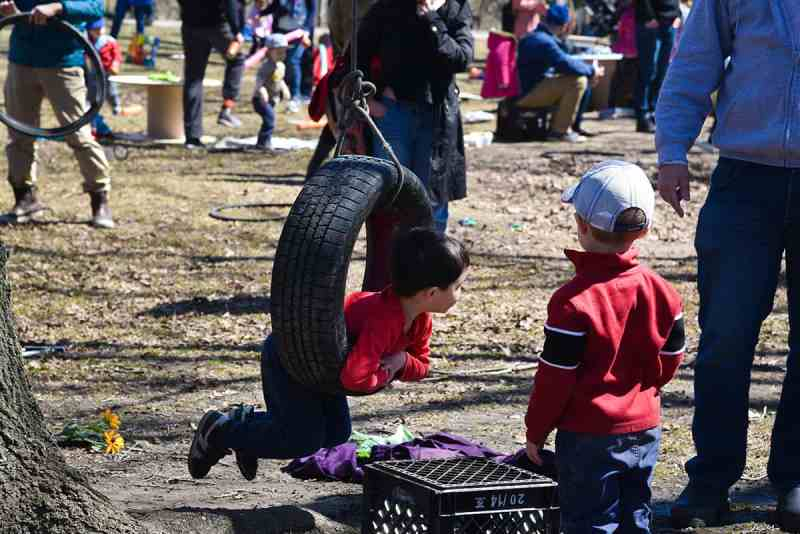 Springfree and Earth Day Canada POP-UP Adventure Playground in #YYC!